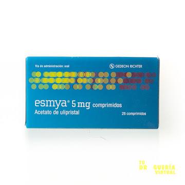 ESMYA 5MG COMPRIMIDOS   CAJA X 28 TABLETAS GEDEON RICHTER ULIPRISTAL