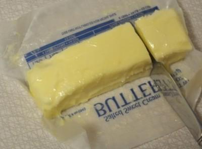 1.Take 2 tablespoons of butter and set aside to use in filling