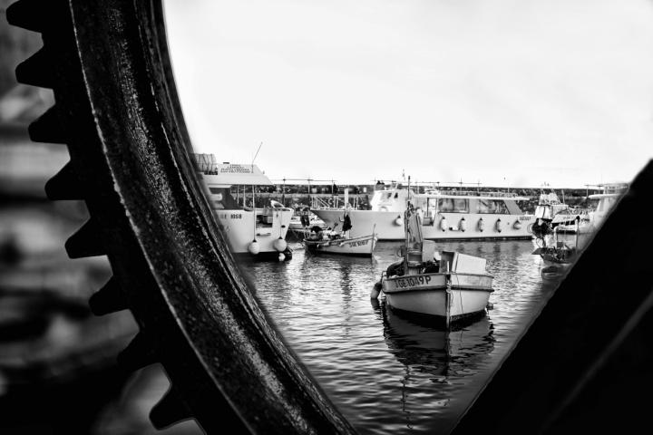 Attraverso l'ingranaggio ex la barca va di danger