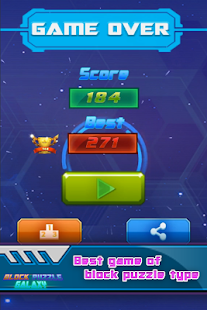Block Puzzle Galaxy 2018: Drag, Swipe & Drop Cube- screenshot thumbnail