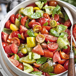 Tomato Basil Salad with Balsamic Dressing.