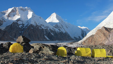 Photo: Base camp and Khan Tengri