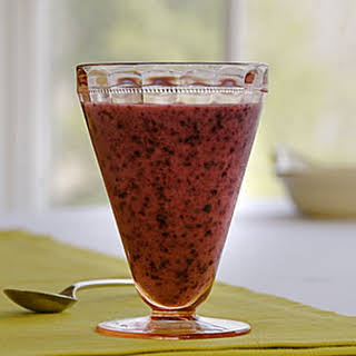 Blueberry-Passion Fruit Smoothie.