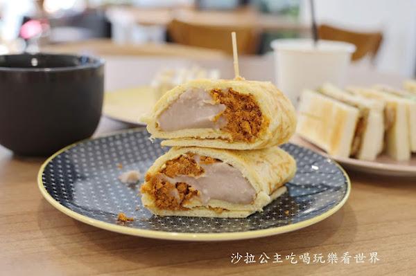三重人氣美食『漫慢食』爆漿芋泥奶香捲餅/早餐/空軍三重一村對面