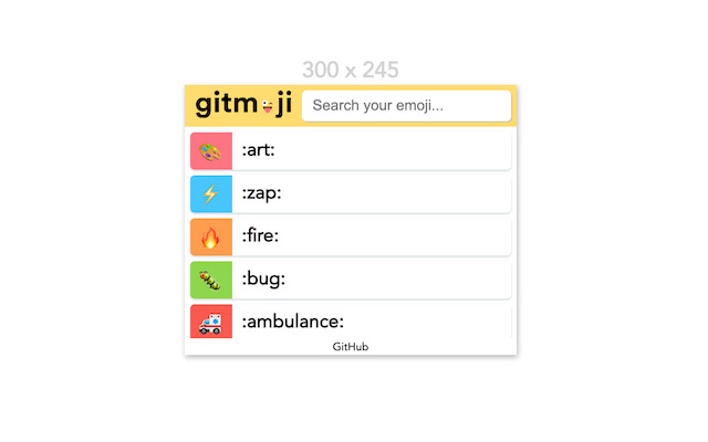 Gitmoji Browser Extension