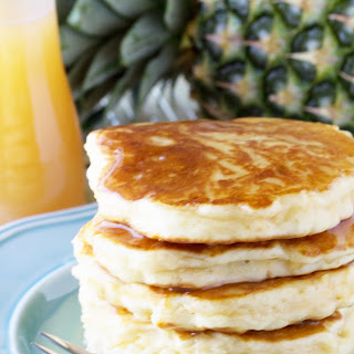 Pineapple Pancakes with Coconut Syrup.