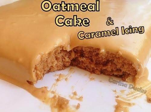 Oatmeal Cake & Caramel Icing