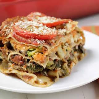 Sweet Potato Veggie Lasagna.
