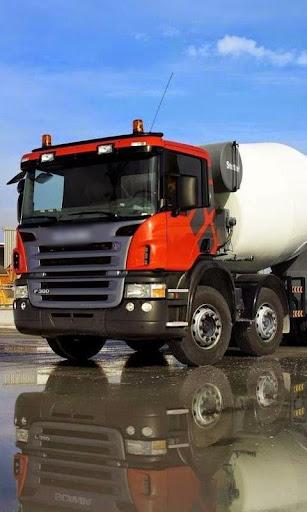 Concrete Mixer Truck Wallpaper