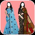 Women Cotton Sarees Photo Montage icon
