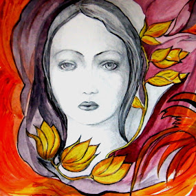 FACE OF LOVE by Vesna Disich - Painting All Painting ( face, vesna disich, art, poetical, artistic, drawing )