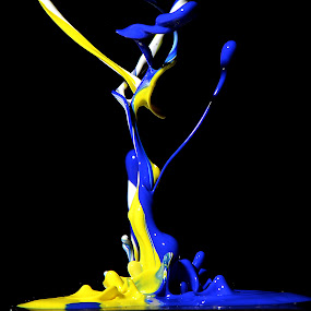 DANCING COLORS by Harish Khanna - Abstract Water Drops & Splashes (  )