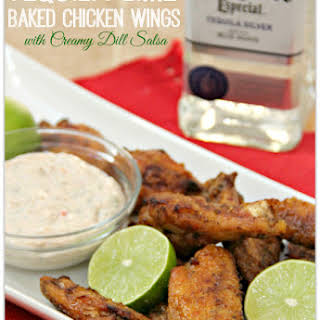 Tequila Lime Baked Chicken Wings.