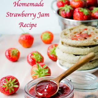 Easy Homemade Strawberry Jam Recipe Without Pectin | Classic Strawberry Jam.