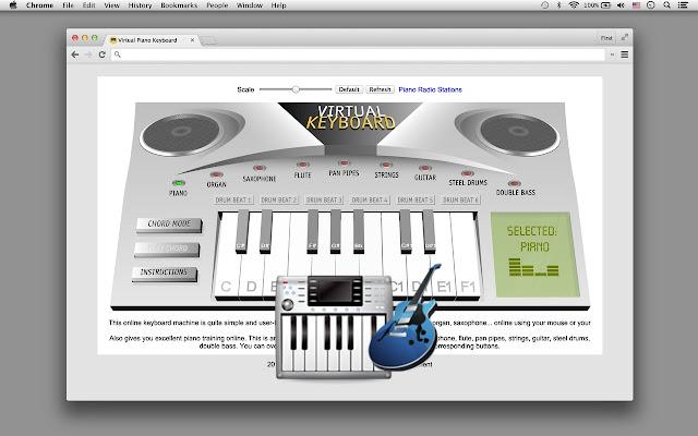 Virtual Piano Black