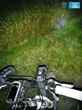 Photo: El contrast de la foscor amb les nostres llums de les biciletes
