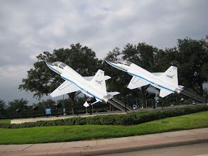 Photo: T38s at the Space Center Houston Tourist Entrance