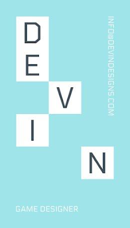 Devin Game Design - Business Card item