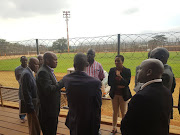 Limpopo MEC for sport Onicca Moloi leads her entourage on the inspection of the Thohoyandou Stadium in the Vhembe Region as the provincial government goes ahead with its promise to help newly promoted Black Leopards refurbish the venue to meet the Premier Soccer League standards.