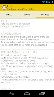 Hotels Pet friendly Screenshot