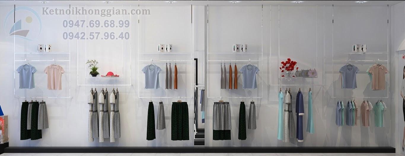 thiết kế shop thời trang công sở thông minh và ấn tượng