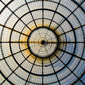 Glass art by Filippo Arbinolo - Buildings & Architecture Architectural Detail ( roof, famous, milan, europe, ceiling, exterior, sunny, popular, glass, italy, geometry )