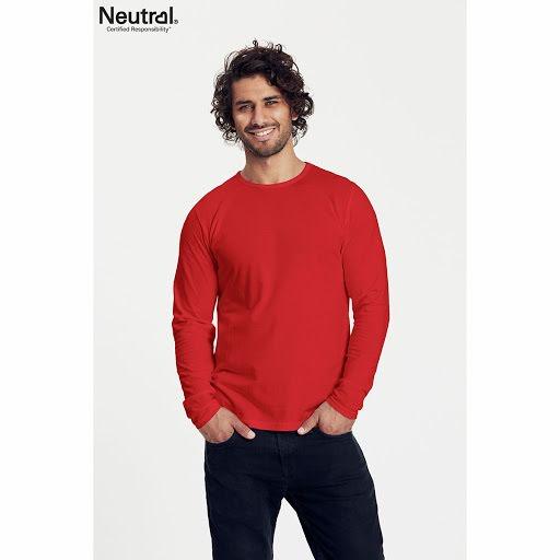86db4446f744 Neutral Long Sleeve Organic T-shirt | Custom Branded Clothing