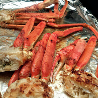 Baked Crab Legs.