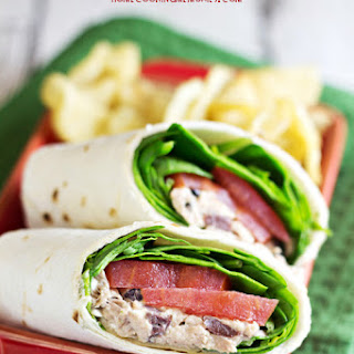 Greek Tuna Salad Wrap.