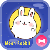 Cute Wallpaper Moon Rabbit Theme