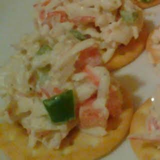 Spicy Crab Salad Canapes.