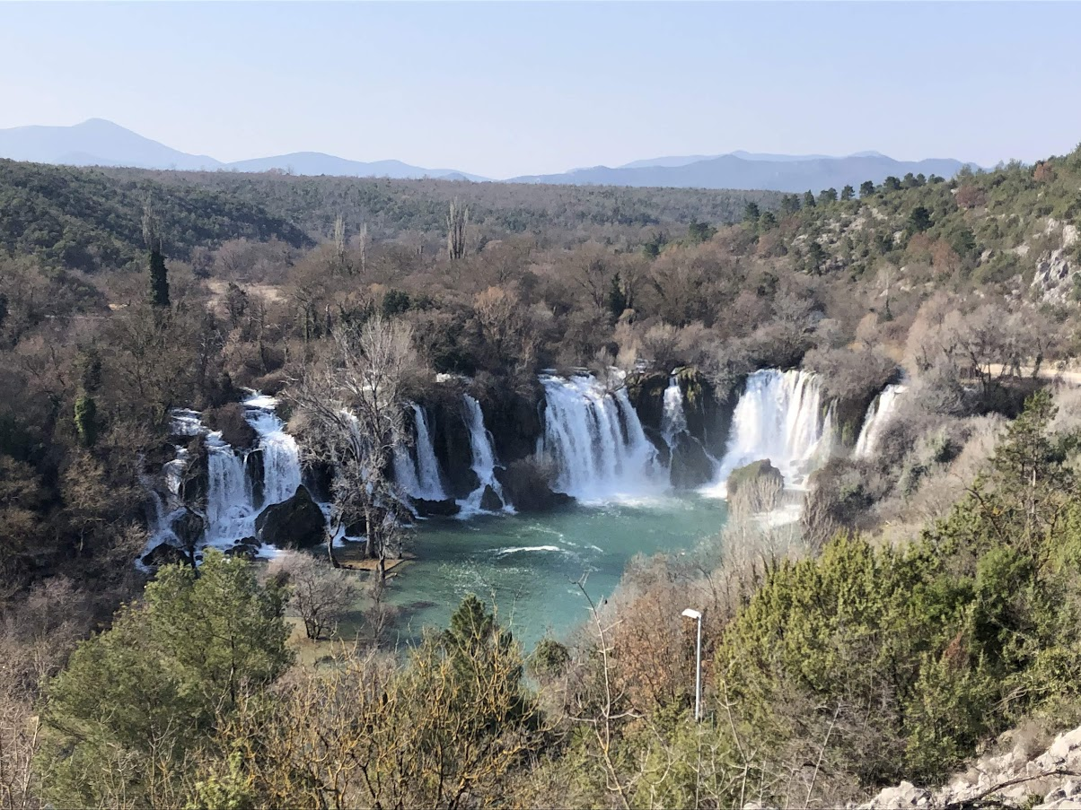 Kravice Waterfalls from above