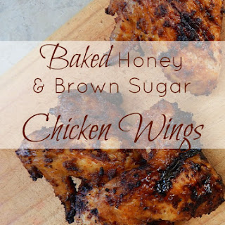 Baked Honey and Brown Sugar BBQ Chicken Wings.