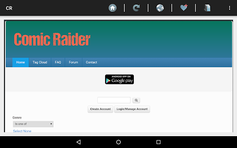 Comic Raider webcomic reader screenshot 0
