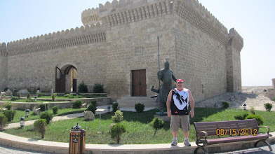 Photo: Kyle Hackenberg in Baku, Azerbaijan, Aug 2012. Castle 2000 years.
