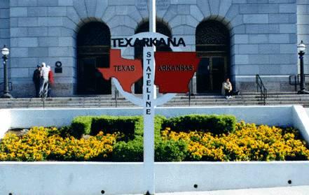 Photo Island on the Arkansas-Texas State Line in Texarkana