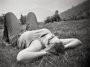 Photo: M on grass