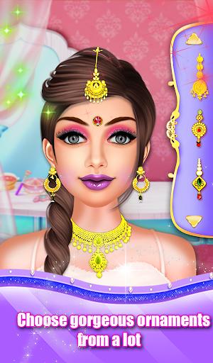 Indian Wedding Saree Designs Fashion Makeup Salon  screenshots 11