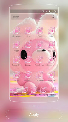 Lovely bear Theme pink bear - screenshot