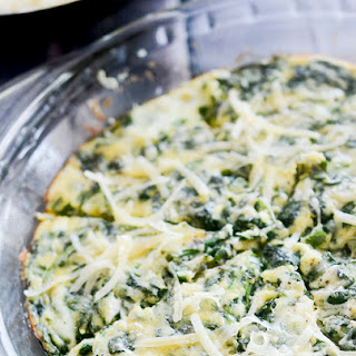 Crustless Spinach and Gouda Quiche