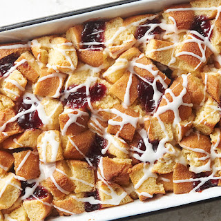 Jelly Donut Bread Pudding.