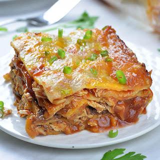 Cheesy Chicken Enchilada Casserole.