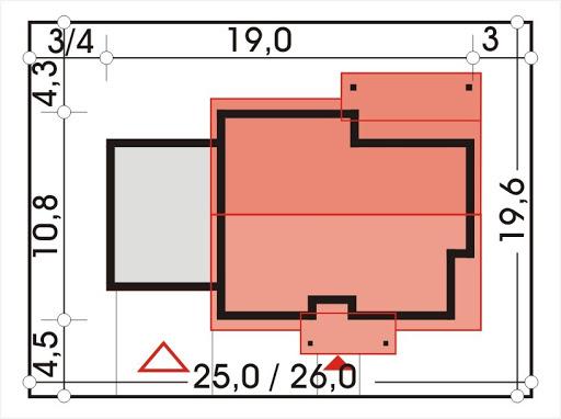 Antek II wersja C z podwójnym garażem - Sytuacja