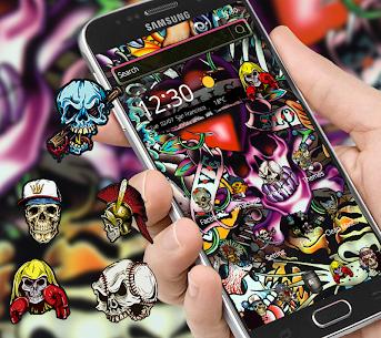 Rock Skull Graffiti Theme & Lock Screen & Call 1