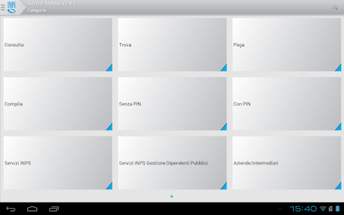 INPS Servizi Mobile per Tablet - screenshot thumbnail