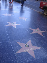 Photo: on the Hollywood walk of fame