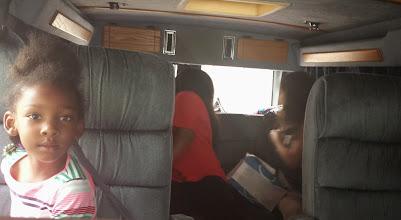 Photo: in the van