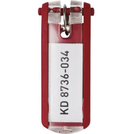 Nyckelbricka KEY CLIP röd