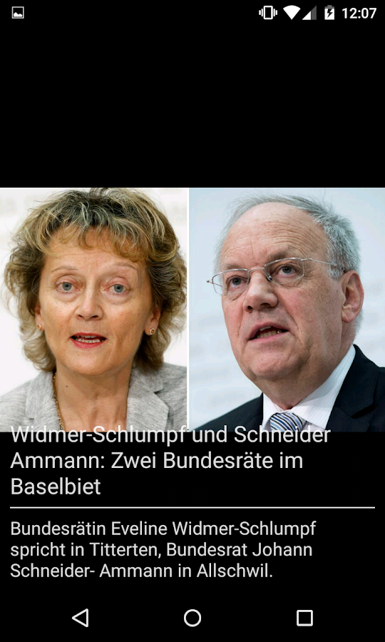 bz Basel News- screenshot