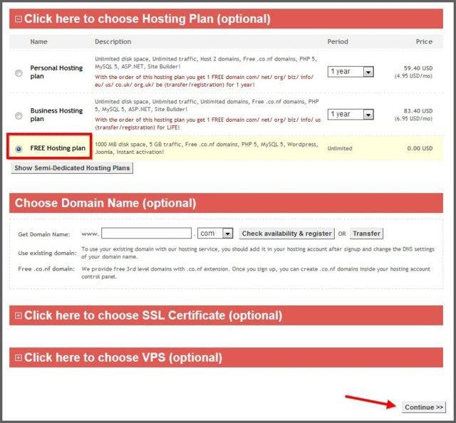 Domain dan hosting gratis selamanya
